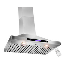 "AKDY - AKDY AG-ZB02 Euro Stainless Steel Wall Mount Range Hood, 30"" - Let fresh air rule the kitchen. This AKDY 30"" wall range hood features a new sleek, modern design with an easy to clean surface. It also offers 35-watt halogen lighting to illuminate your cooking surface and 3-speed settings to fit your cooking preferences. Optional recirculating kits are available. Model available in 30"" and 36"""