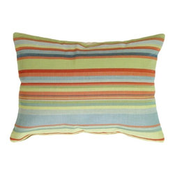 Pillow decor ltd tropical stripes rectangle pillow for Breezy beach chaise