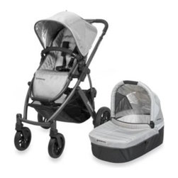 Uppababy - UPPAbaby Vista Stroller in Silver Mica - The VISTA is a convertible stroller system that can transport up to three children – without growing wider. Designed to adapt as your family grows, the VISTA accommodates your precious cargo from birth through the toddler years.