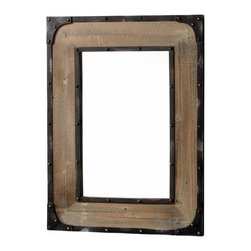 Rustic Wood and Iron Wall Mirror - *Adler Mirror