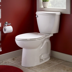 """American Standard Cadet 3 Right Height Elongated Toilet 14"""" Rough - Smarter design for higher performance and fewer clogs – all at a great price. The Cadet® 3 series toilets come in a variety of styles; one piece and two piece models, elongated and round front bowls, right height and compact versions and even water efficient models that flush on just 1.28 gallons per flush. The Cadet 3 is a hard working versatile series with superior performance."""