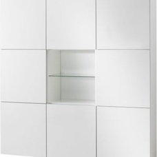 BESTÅ Storage combination with doors, white, high gloss white