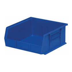 "Akro-Mils - Blue Stackable Storage Bins, 5""- Set of 6 - AkroBins optimize your storage space. Control inventories, shorten assembly times and minimize parts handling. Heavy-duty polypropylene bins hang from Akro-Mils racks, panels, rails, and carts; securely stack atop each other and sit on shelving. AkroBins are unaffected by weak acids and alkalis. Sturdy, one-piece construction is water, rust and corrosion proof and guaranteed not to break. Autoclavable up to 250Degrees F."