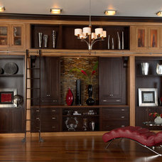 Contemporary Living Room by Medallion Cabinetry