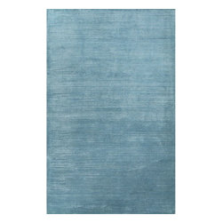 Jaipur Rugs - Jaipur Rugs Solids/Handloom Solid Pattern Wool/Art Silk Blue/Area Rug, 5 x 8ft - The Basis rug collection is hand loomed in a textural loop and cut ribbed construction. Made from wool and art silk ,it has a casual modern feel with a soft hand and lusterous finish. It is offered in a full range of colors.