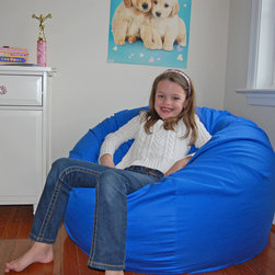 Ahh Products - Ahh Products Blue Organic Cotton Washable Bean Bag Chair - This adorable organic bean bag chair is perfect for your child. Featuring a washable eco-friendly organic cotton cover, water-repel liner, and double stitched seams, this bean bag chair is sure to be a favorite in your home.