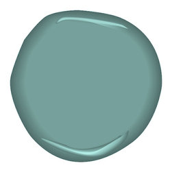 Antiqued Aqua Paint - The faded Scottish tapestry contained this beautiful muted shade of aquamarine.