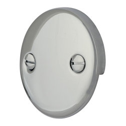 Kingston Brass - Trip Lever 2 Hole Round Plate - Decorate your bathroom with the smooth circular two-hole round plate. Its strong constitution of our chrome-plated finish will give you long-lasting satisfaction.