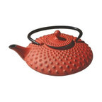 Old Dutch Amity Red 26 oz. Cast Iron Teapot - About Old Dutch InternationalFamous for their copperware, Old Dutch International, Ltd. has been supplying the best in imported housewares and giftware to fine retailers throughout America since 1950. They offer a large assortment of housewares, including bakers racks, trivets, and pot racks in materials like chrome, colorful enamel, and stainless steel. Other product lines include wine racks, serving trays, specialty cookware, clocks, and other home accessories. Old Dutch warehouses and distributes their products from a 30,000 square foot facility in Saddle Brook, N.J.