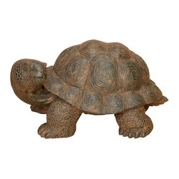 Aspire - Turtle Garden Statue - Truly a great decoration for your garden! This turtle statue is constructed from a durable polystone resin and finished in tones of black and brown. Polystone. Color/Finish: Brown. 10 in. H x 20 in. W x 12 in. D. Weight: 10 lbs.