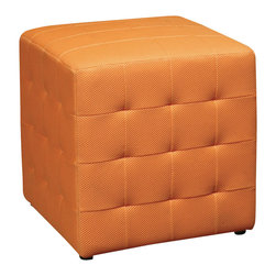 "Avenue Six - Avenue Six Detour 15"" Mesh Fabric Cube in Orange - Avenue Six - Ottomans - DTR1518 -"