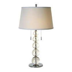 Trend Lighting - Crystal Table Lamp: Palla 29 in. Crystal with Polished Chrome Table Lamp TT5800 - Shop for Lighting & Fans at The Home Depot. The Pala Crystal lamp has a classic and elegant crystal body topped with a beautiful round white linen shade with two heavy pull chains that is can be used to accent your living rooms, dens, kitchens, bedrooms, etc. This lamp can use two 100 watt bulbs or a CFL equivalent.
