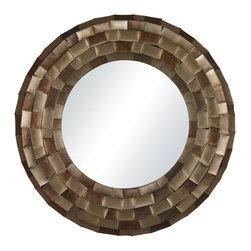 Sterling - Sterling 138-060 South Sunriselarge Mirror In Plated Metal Tile Frame - Sterling 138-060 South Sunriselarge Mirror In Plated Metal Tile Frame