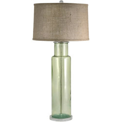 Lamp Works - Lamp Works Recycled Glass Green Cylinder Table Lamp -