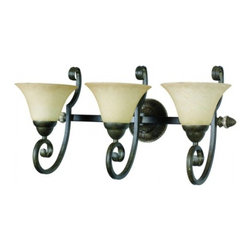 YOSEMITE HOME DECOR - 3 Lights Vanity in Light Tuscan Sand - Hardwire : Yes
