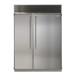 """Marvel - MPRO60CSSSS 60"""" Professional Side-by-Side Dual Cabinet Refrigerator with Bold Pr - Each of MARVEL39s side-by-side refrigeratorfreezers displays our commitment to superior construction choice and capacity Interiors are solidly built in your choice of arctic white aluminum or gleaming stainless steel All products are frost-free and h..."""