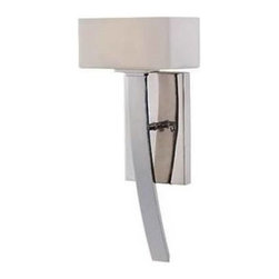 "Savoy House - Savoy House 9-7043-1-109 Pour Le Bain 15-7/8"" 1 Light Wall Sconce in Polished Ni - A modern Midtown Vogue marvel in polished nickel, providing a fresh design for a variety of baths.White opal etched glassBulb Included: No Bulb Type: Halogen Collection: Pour le bain Energy Star Compliant: No Extends: 4-3 8 Finish: Polished nickel Height: 15-7 8 Max Wattage: 60 Number of Lights: 1 Safety Rating: UL, CUL Socket 1 Base: G9 Socket 1 Max Wattage: 60 Style: Contemporary modern Suggested Room Fit: Bathroom, entry foyer Voltage: 120 Weight: 10.9 Width: 7"
