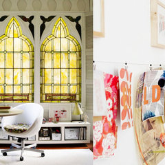 eclectic home office by SFGIRLBYBAY