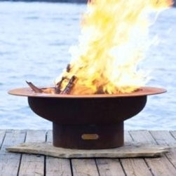 Saturn Artisan Steel Fire - Each of the Saturn Artisan Fire Pits are hand crafted for a completely unique feature in your home. -Mantels Direct