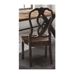 Zuo Modern - 17.7 in. Side Chair - Set of 2 - Set of 2. Whimsical design. Gently curved seat. Warranty: One year. Made from elm wood. Distressed natural finish. Assembly required. Seat: 19.7 in. W x 17.7 in. D x 17.7 in. H. Overall: 20 in. W x 20 in. D x 41.3 in. H (37.4 lbs.)