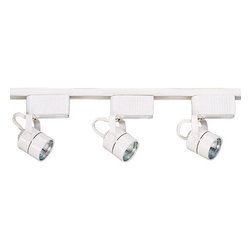 Elco - Elco ET567 50W Low-Voltage Track Builder's Kit with 3 Cylinder Fixtures - Elco ET567 50W Low-Voltage Track Builder's Kit with 3 Cylinder FixturesTrack lighting has become an instant style upgrade to any home or commercial space. Because of this, Elco Lighting has put a lot of thought and care into the manufacture of their track lighting line. Elco Lighting is proud to present a variety of high-tech affordable track systems. They have improved and created new lines of track, and track fixtures, that will be an attractive addition to any commercial or residential application.Features: