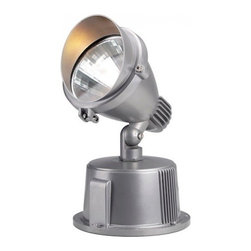 """SLV Lighting - SLV Lighting Easylite Spot G12 Exterior Portable Luminaire - The Easylite Spot G12 was designed in Germany. Suitable for many purposes both residential and commercial application. This fixture can be mounted in wall or floor fitting, ceiling and as ground fixture with multi-directional head lamp with 350 degree  beam spread and 180 degree variable tilt. Perfectly compliment any outdoor display. In elegant finish made of aluminum material. Unit includes conventional ballast and earth spike.  Product Details: The Easylite Spot G12 was designed in Germany. Suitable for many purposes both residential and commercial application. This fixture can be mounted in wall or floor fitting, ceiling and as ground fixture with multi-directional head lamp with 350 degree  beam spread and 180 degree variable tilt. Perfectly compliment any outdoor display. In elegant finish made of aluminum material. Unit includes conventional ballast and earth spike.  Note: Lamp head is rotatable by loosening the bolted connection in the connection box. Details:                                     Dimensions:                                     Product-H: 11.4"""" (28.95 cm) X Head-�: 7"""" (17.78 cm) x Length: 9.8"""" (24.89 cm)             Base-�: 7.5"""" (19.05 cm) x Height: 4.5"""" (11.43 cm)                                                     Light bulb:                                     1 x 70W GU12 (excl.)                                                     Material:                                     Aluminum                         ETL - listed certified for use in U.S., Canada and all other countries worldwide."""