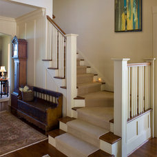 Traditional Staircase by Samsel Architects