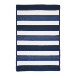 Colonial Mills, Inc. - Indoor/Outdoor Portico, Nautica Rug, 2'X6' - Treat your porch or patio to bold, broad stripes. These reversible outdoor rugs are fabricated in the USA from maintenance-free polypropylene, so they'll stand up to sun, water, sand or anything else Mother Nature (or your family) dishes out.