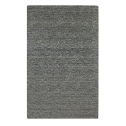 Surya - Solid/Striped Etching 5'x8' Rectangle Gray Area Rug - The Etching area rug Collection offers an affordable assortment of Solid/Striped stylings. Etching features a blend of natural Gray color. Handmade of 100% Wool the Etching Collection is an intriguing compliment to any decor.