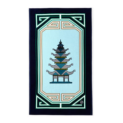 Jonathan Adler Luxembourg Pagoda Beach Towel - You can even share your love for pagodas at the beach with this chic towel!