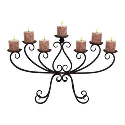 Benzara - Cool Candelabra Centerpiece with Iron Alloy - Cool Candelabra Centerpiece with Iron Alloy. Everyone loves a romantic dinner at home. Its elegance also makes it perfect for resting beside the bathtub during a long escape.