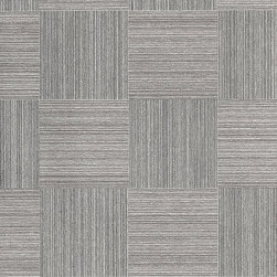 Romosa Wallcoverings - Grey Chequered Embossed Titanic Wallpaper - - Color: Grey