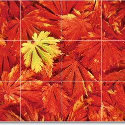 Picture-Tiles, LLC - Trees Leaves Photo Kitchen Tile Mural T059 - * MURAL SIZE: 18x24 inch tile mural using (12) 6x6 ceramic tiles-satin finish.