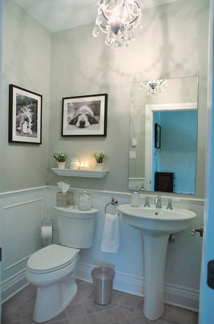 Contemporary Powder Room by Wish Decor