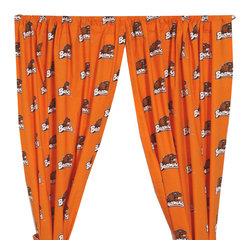 College Covers - NCAA Oregon State Beavers Curtains Long Collegiate Drapes - Features: