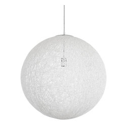 Celestial Orbit Pendant in in White - Hang the Celestial Orbit Pendant above a reading nook, dining table, coffee table, or in the bedroom for instant elegance and fun. Crafted from heat-resistant cotton thread, it creates magical lighting and style that's always sharp and dynamic.