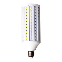 E27 40W 6600LM 165LED SMD 5730 LED Corn Bulb - As Lumen is the unit measuring the rate of emission of light energy, normal incandescent lamp only has a rate of 10-15 Lumen/ W, compared to LED bulb with 80-100 Lumen/ W