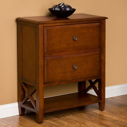 """29"""" Clinton Single Tilt-Out Wood Laundry Hamper - Cherry Finish - The 29"""" Cherry Clinton Wood Laundry Hamper features an open lower shelf, which is convenient for visible storage. Coordinate your entire bathroom by pairing this upscale laundry hamper with a Cherry Clinton vanity."""