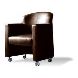 Jesper Office Furniture - Ulla Brown Chair - Features: