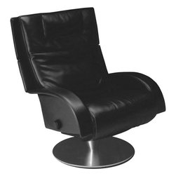 Lafer - Lafer Victoria Leather Recliner Chair - Soft Black - Victoria multipurpose leather recliner comes in one exotic leather color ? White ? to give your home an aura of grace and panache. This centerpiece has been engineered to give you ultimate comfort with an adjustable backrest and various adjustment options that suit you perfectly.