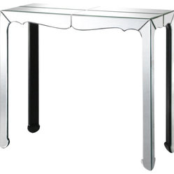 ZUO - Zuo Vive Console Table in Clear - We all need a bit of Liberace in our lives! This mirrored console table packs a punch in an elegant and refined way. Have the pluck to place it in a hallway or behind a sofa, but don't hide it, this is a table to display with gusto!
