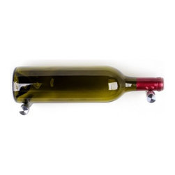 Vin de Garde Modern Wine Cellars - Nek Rite 2 - Vin de Garde Wall Mounted Wine Rack , Aluminum - The Nek-Rite Series adds a sleek design to your wine wall.  Each pair of grooved rods holds 2 bottles horizontally allowing the label of the front bottle to be seen by the connoisseur.