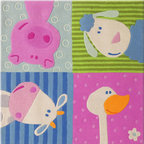 HABA Animal Quartet Area Rug - This is the perfect rug for a little boys or girls nursery.