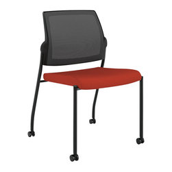Hon - Ignition Multipurpose Stacking Chair - Here's one hot seat you won't mind being in. Designed for style, this chair provides extra seating for guests or employees in break or meeting rooms, and it adds a jolt of color and fun with a cushioned back and bright red seat. Buy a few and stack them when not in use.