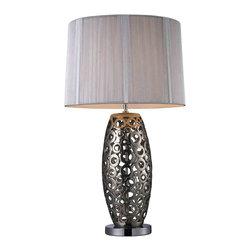 Dimond Lighting - Dimond Lighting D1446 Trump Home Varick Alisa Silver Table Lamp - Dimond Lighting D1446 Trump Home Varick Alisa Silver Table Lamp