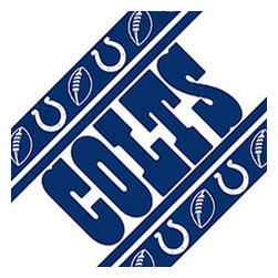 Sports Coverage - NFL Indianapolis Colts Football Peel Stick Wall Border Roll - Features: