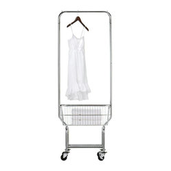 Home Decorators Collection - Laundry Butler - Our chrome commercial Laundry Butler can be extremely helpful in any home environment. Features high-quality wheels, a chrome wire frame basket, and a hanging bar for your convenience. Order yours now. Includes wheels. Chrome finish.