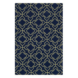 """Loloi Rugs - Loloi Rugs Francesca Collection - Navy / Green, 5' x 7'-6"""" - If your lifestyle is fresh, spirited and informal, the intricately hand-hooked Francesca Collection is for you. These richly textured designs range from boldly scaled florals and architectural gate patterns to geometric chevron stripes and pretty paisleys. Crafted to reflect your personal style, each Francesca rug is made in China of 100-percent polyester with fibers that are stain- and moisture-resistant. That means colors will remain vibrant today and tomorrow, whether you place your rug in asunroom, kitchen, family room or foyer."""
