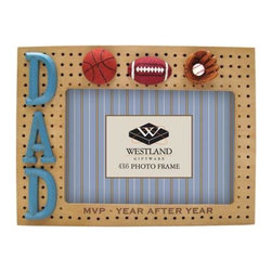 WL - 4 x 6 Inch Dad MVP Year After Year Sports Decorated Resin Photo Frame - This gorgeous 4 x 6 Inch Dad MVP Year After Year Sports Decorated Resin Photo Frame has the finest details and highest quality you will find anywhere! 4 x 6 Inch Dad MVP Year After Year Sports Decorated Resin Photo Frame is truly remarkable.