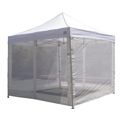 """Impact Canopy - Impact Canopies Breeze Wall Kit Multicolor - BREEZEW - Shop for Canopies from Hayneedle.com! The Impact Canopies Breeze Wall Kit is designed for 10 x 10 ft standard canopies and is adaptable to most standard canopies in the market. Add this breeze wall kit to your existing canopy for a screened-in protective cover with 2 zippered entry doors. Attaches with hook and loop fasteners which allow for height adjustability. Ideal for food service vendors backyard picnics camping parade watching tailgate parties the uses are endless. Help keep you and your food and perishables protected from insects and the elements. About Impact CanopyImpact Canopy (formally called Caravan Canopies Canada Inc.) is one of the only manufacturers who can offer the complete canopy program and with a tag line that promises """"The Next Level"""" you know to expect the best! Formed in 1999 Impact Canopy has over 10 years of experience in the industry as a manufacturer and distributer of canopies and canopy accessories. Not only that but they are the only true North American Instant Canopy brand with offices in the US and Canada providing the entire globe with the best in instant canopy options. Experience next level innovation customer service technology product support and design with Impact Canopy."""